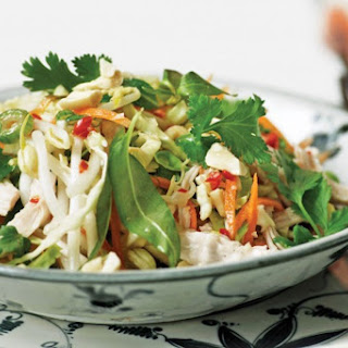 Vietnamese Poached Chicken Salad With Mint And Coriander.