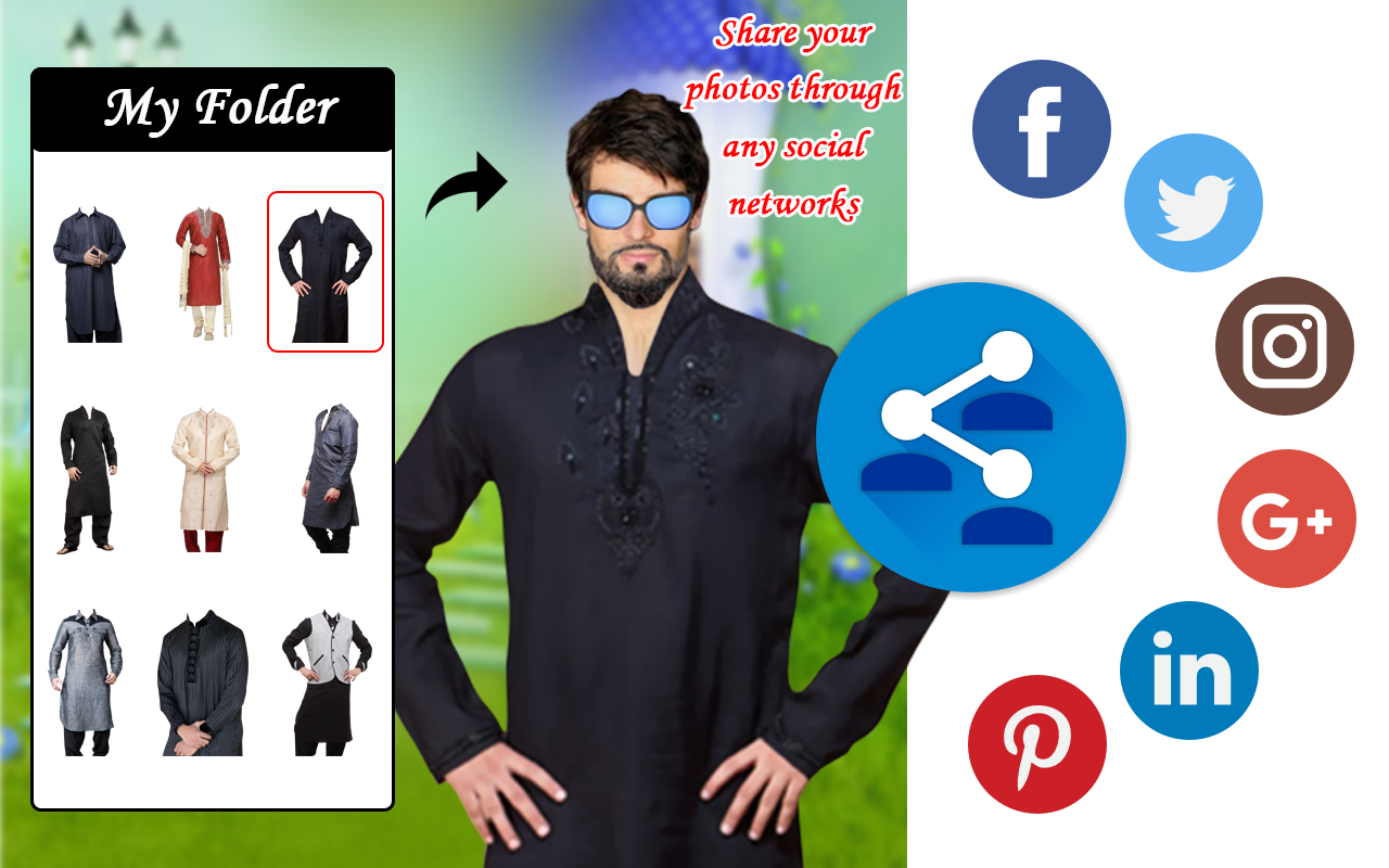 Men Shirt With Tie Photo Suit Maker Android Apps On