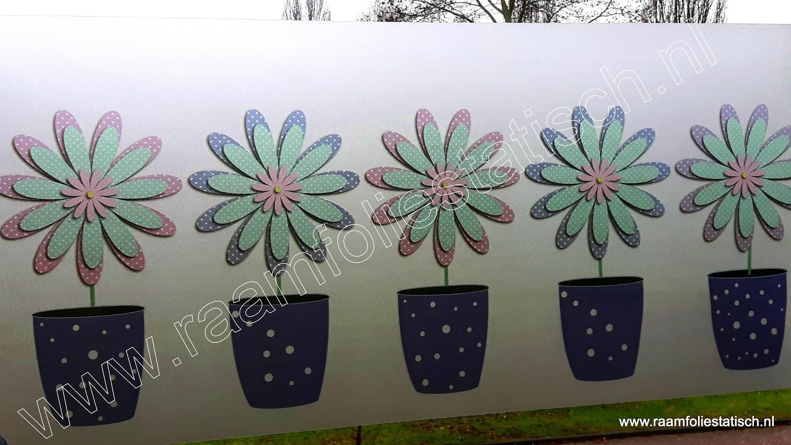 Raamfolie statisch modern flowers bestellen?