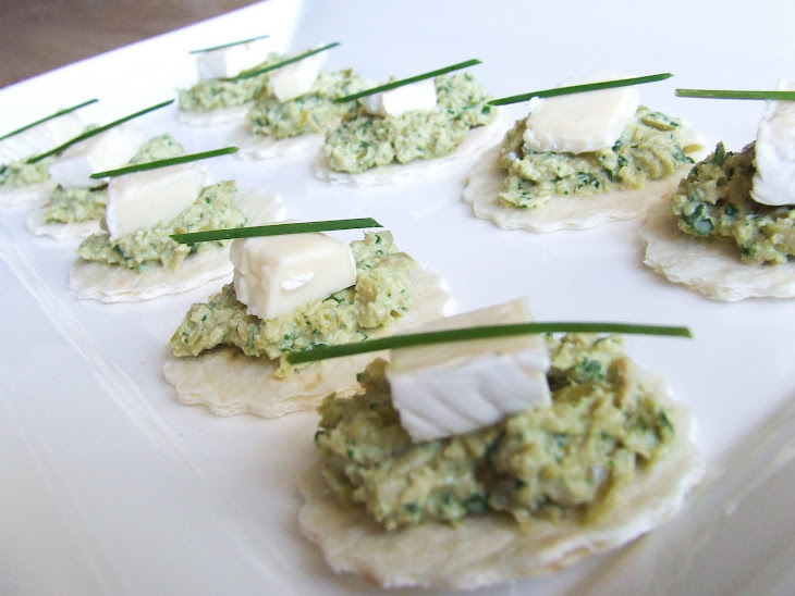 Brie and Green Olive Canapes Recipe