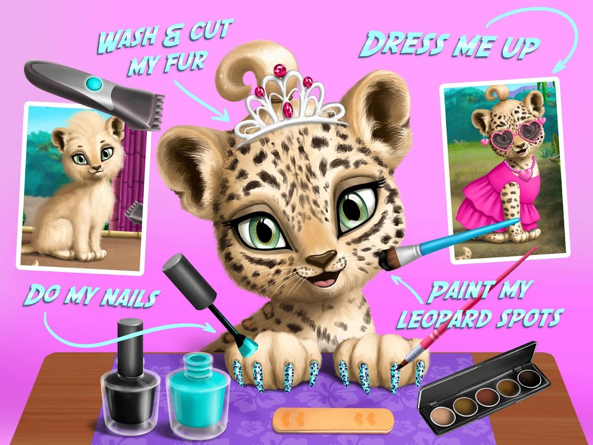 baby jungle animal hair salon android apps on google play