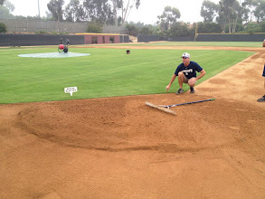 Photo: Teaching how to work / renovate the 1st base cut out.