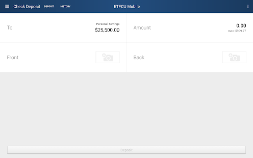 ETFCU Mobile- screenshot thumbnail