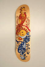 Photo: Here's a better shot of my skate deck. Photo by my teacher - Jaime Anderson.