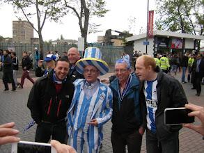 Photo: Wigan fans at Wembley stadium