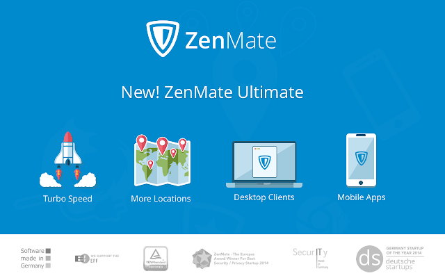 ZenMate Free VPN – Best VPN for Chrome Screenshot