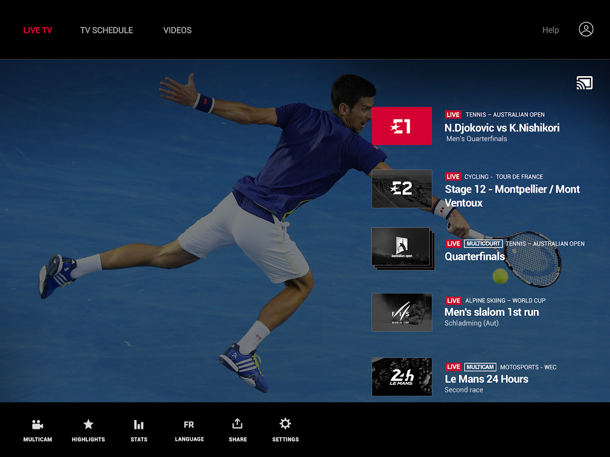 Eurosport Live Player