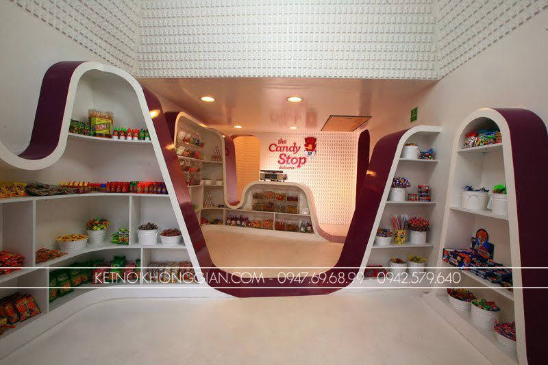 thiết kế shop kẹo candy stop 3