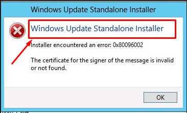windows update standalone error resolved