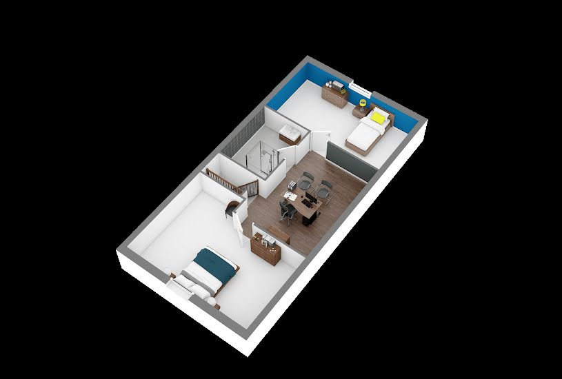 Vente Terrain + Maison - Terrain : 1200m² - Maison : 102m² à Tourville-la-Campagne (27370)