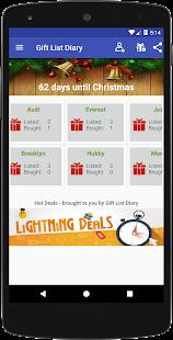 Gift List Diary - Christmas Present Organizer - náhled