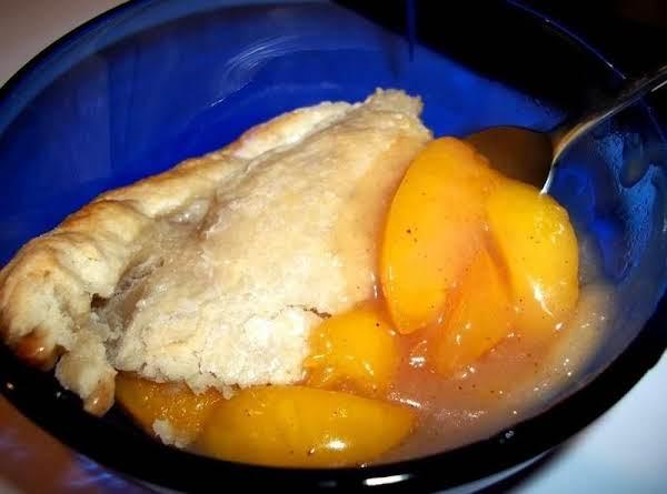 The Best Peach Cobbler / Double Crust Recipe