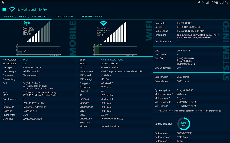 Network Signal Info Pro- screenshot