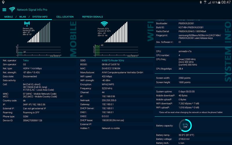 Network Signal Info Pro Screenshot 8
