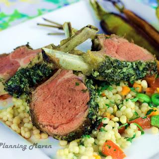 Dijon 'n Herb-Encrusted Rack of Lamb