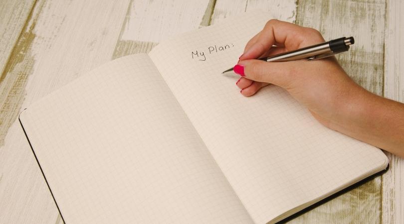 writing down a plan