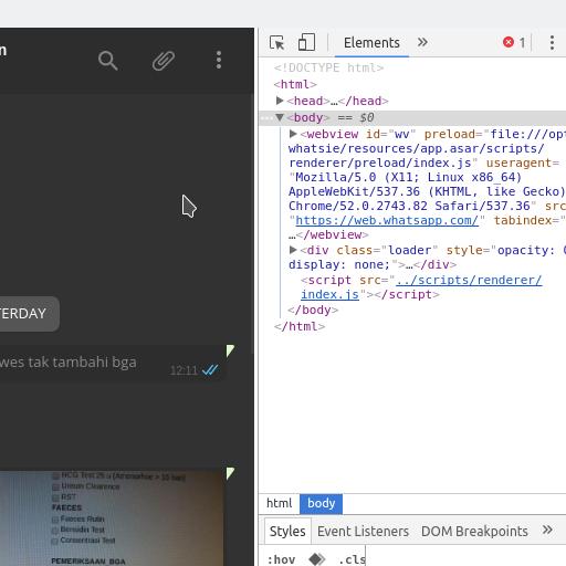 Theme Dark : Pada Dasarnya Whatsie adalah sebuah Browser turunan Chromium Browser yang di wrap sedemikian rupa.