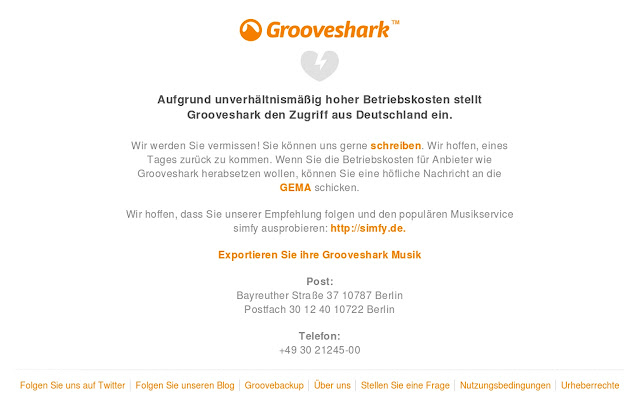 Grooveshark Germany unlocker
