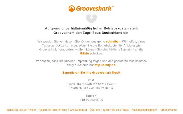 Grooveshark Germany unlocker