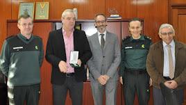 Arturo Prieto, Pablo Almarza, Luis Reche, Pedro Herrera y Manuel Portero en la Comandancia de Almería