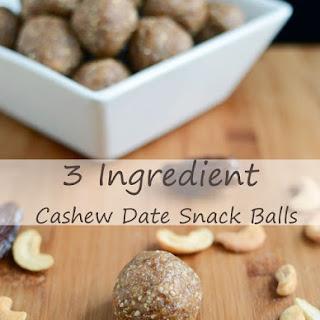 3 Ingredient Date Cashew Snack Balls.