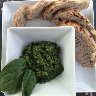 Cilantro-Walnut Pesto Bread Spread (video).