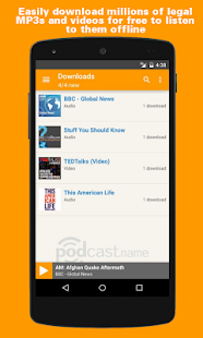 podKatcher - podcast downloads- screenshot thumbnail