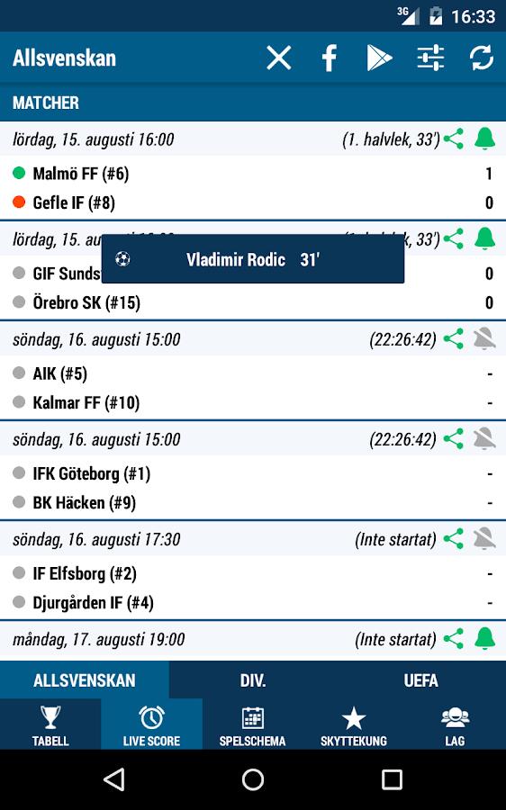 Allsvenskan- screenshot