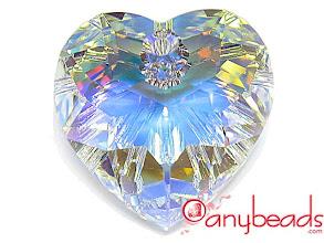 Photo: Swarovski 6215 Heart Pendant - Crystal AB