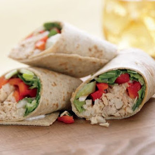 Asian Tuna Wraps.