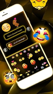 Black Gold Keyboard 1.0 Mod + Data for Android 3