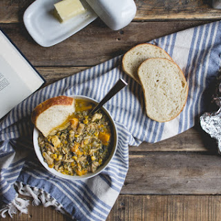Slow Cooker Turkey + Wild Rice Soup.