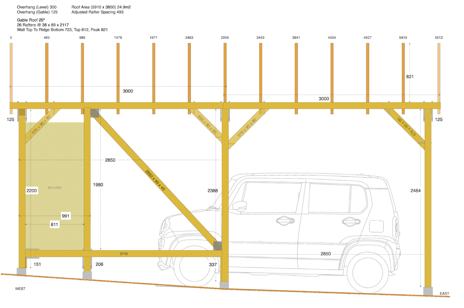 Wood Carport North