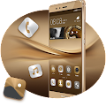 Theme for Huawei P8 & P10 Gold Wallpaper Icon Pack download