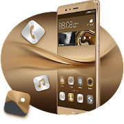 Theme for Huawei P8 & P10 Gold Wallpaper Icon Pack