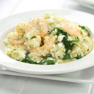 Garlic Prawn Risotto.