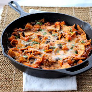 Butternut Squash and Black Bean Enchilada Skillet.