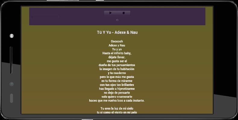 Adexe y Nau Letra De Musicas - screenshot