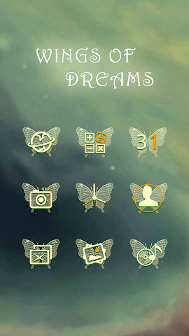 android Wings Of Dreams-Solo Theme Screenshot 2