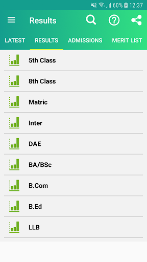 All Pakistan exam results - 10th class Results 2.2.7 screenshots 2