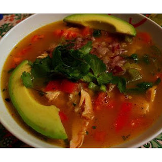 Avocado, Corn, Tomato and Tortilla Soup