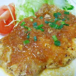 Pork Steak with Garlic Ginger Sauce
