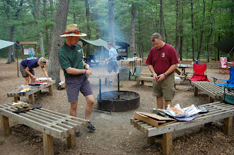 Photo: Our camp kitchen - all done over open fire or with charcoal & dutch oven