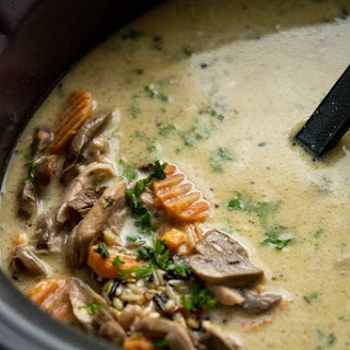 Slow Cooker Chicken and Wild Rice Soup.