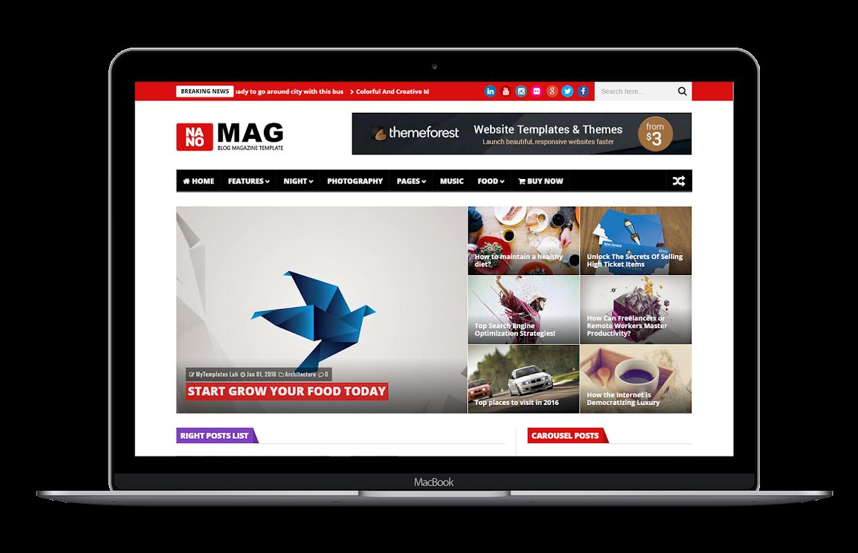 NanoMag - Responsive Blog & Magazine Blogger Template - 13