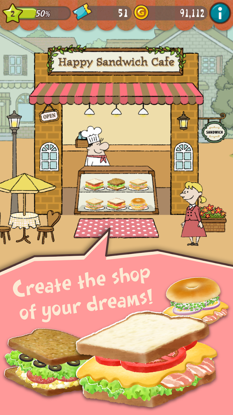 Happy Sandwich Cafe Cheat APK MOD Download 1.1.5