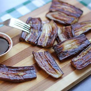 Pritong Talong (Pan Fried Asian Eggplants).