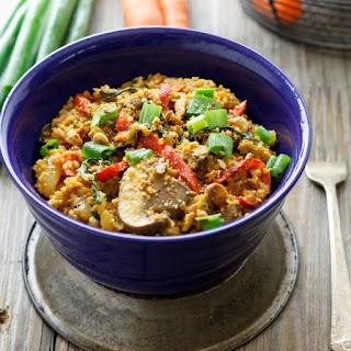 Spicy Stir Fried Bok Choy with Quinoa