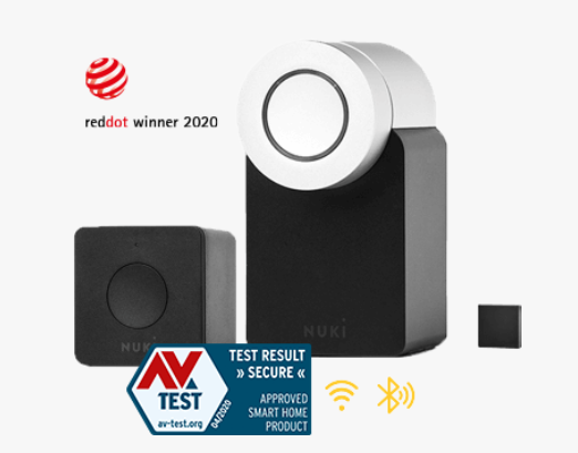 Nuki Combo 2.0 compact smart lock for doors perfect for simple home automation.