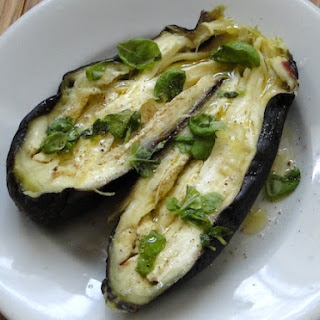 10-min Microwaved Eggplant.